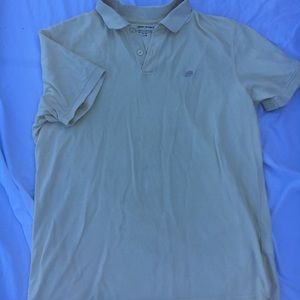 Men's pale yellow polo shirt